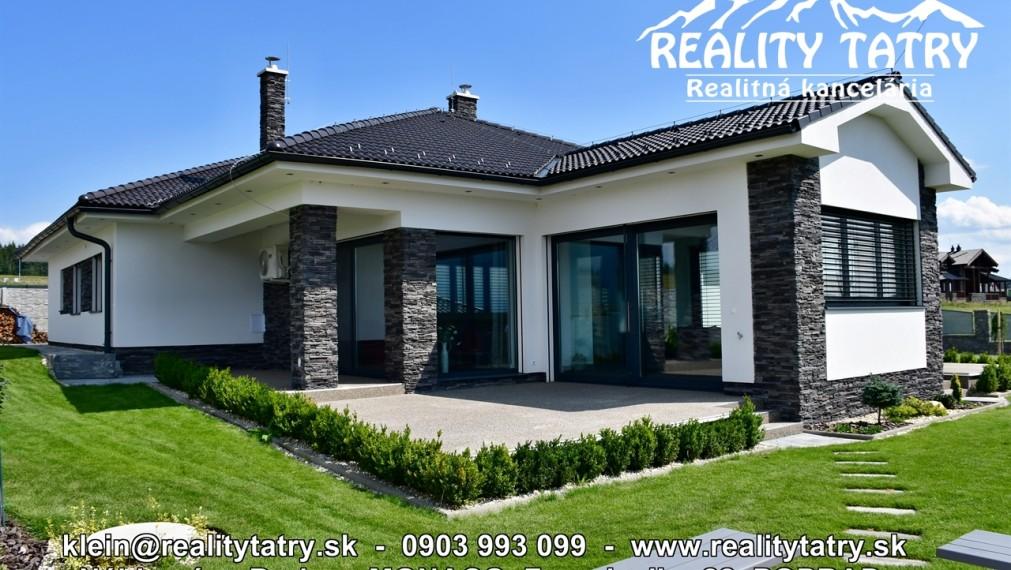 LUXUSNÝ Rodinný dom - NOVOSTAVBA s 2 garážou, letnou terasou vo Veľkej Lomnici 100 % TOP STAV - ODPORÚČAME !!!