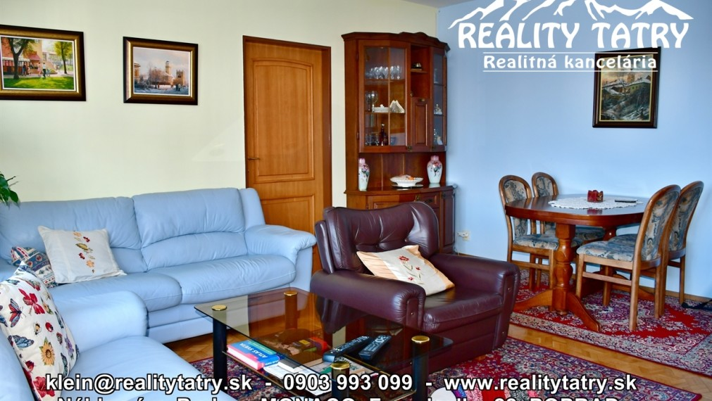 Byt 4 izbový s loggiou v samotnom centre Popradu, Nám. sv. Egídia - VÝBORNÝ STAV - ODPORÚČAME !!!