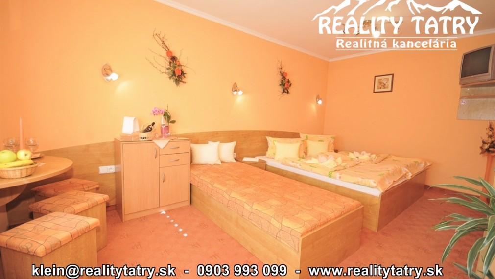 Izba v Penzióne 23 m2 v príjemnom prostredí vo Veľkej Lomnici - ODPORÚČAME !!!