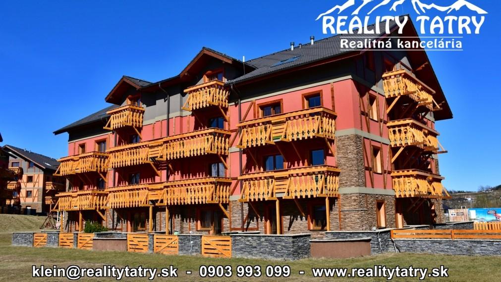 Exkluzívny Apartmán s balkónom v rezorte Tatragolf Veľká Lomnica TOP STAV - ODPORÚČAME !!!