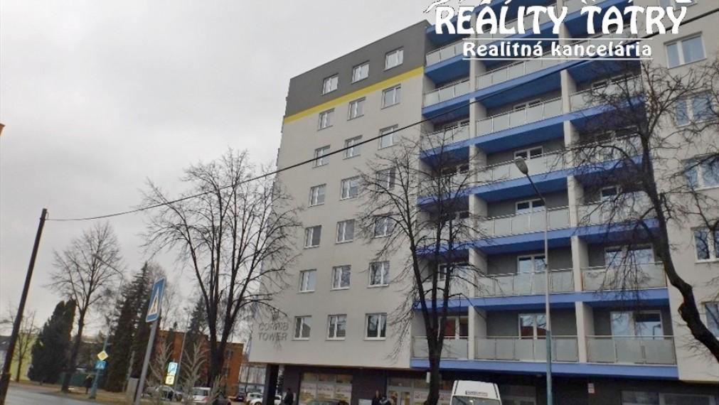 Byt 1 izbový v centre Popradu - CORRIB TOWER - kompletne zariadený kúpou voľný - ODPORÚČAME !!!