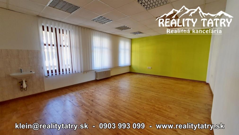 Kancelárske priestory 31 m2 blízko centra ul. Hviezdoslavova Poprad Výborný stav - ODPORÚČAME !!!